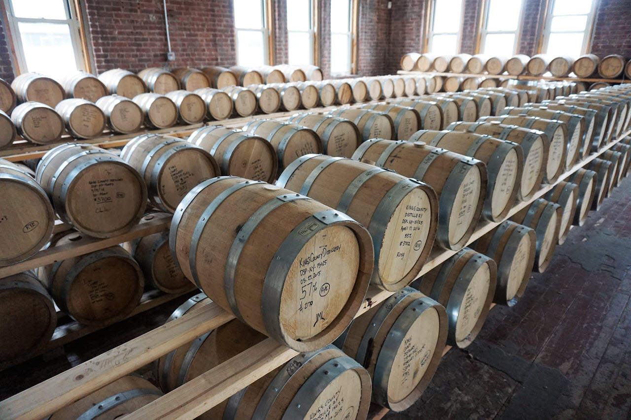 Kings County Distillery - warehouse