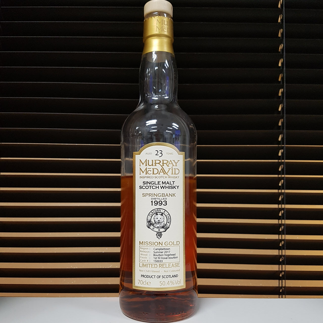 Springbank 1993 23 YO Mission Gold – Limited Release