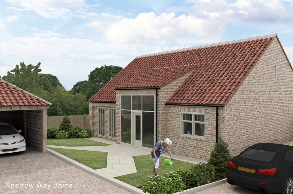 Thresher Barn - Sold STCThis very spacious barn style home features a large south facing garden room, south facing garden and double garage. Filled with natural light, the house has master bedrooms on both floors, with Cabrio balcony rooflight upstairs.