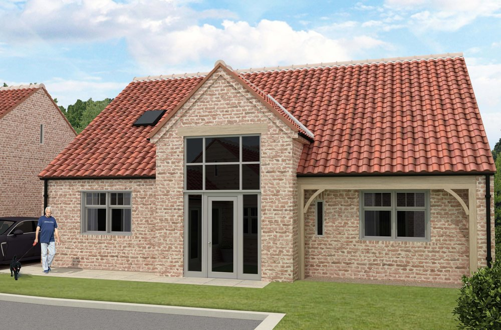 Copse Barn - Available April 2019A large barn style home, with exceptional living spaces and generous south facing garden. This light, sunny house features master bedrooms at both ground and first floor, with Cabrio balcony rooflight upstairs.