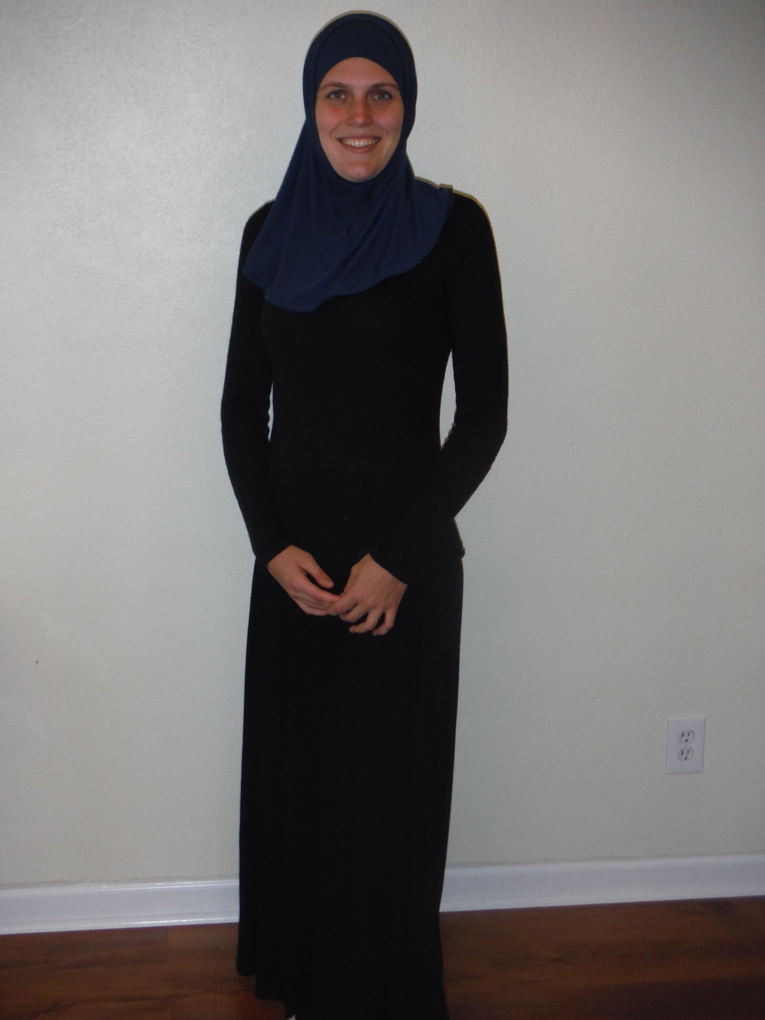 Anne Garboczi Evans in Hijab