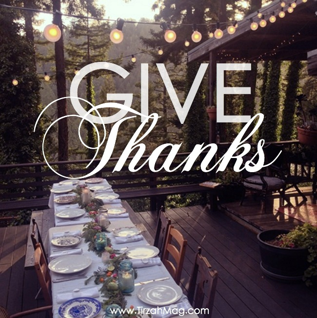 Happy Thanksgiving from Tirzah Magazine, a community of set apart young women