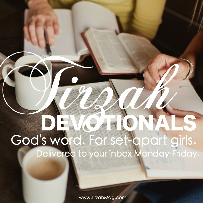 Tirzah Devotionals ad