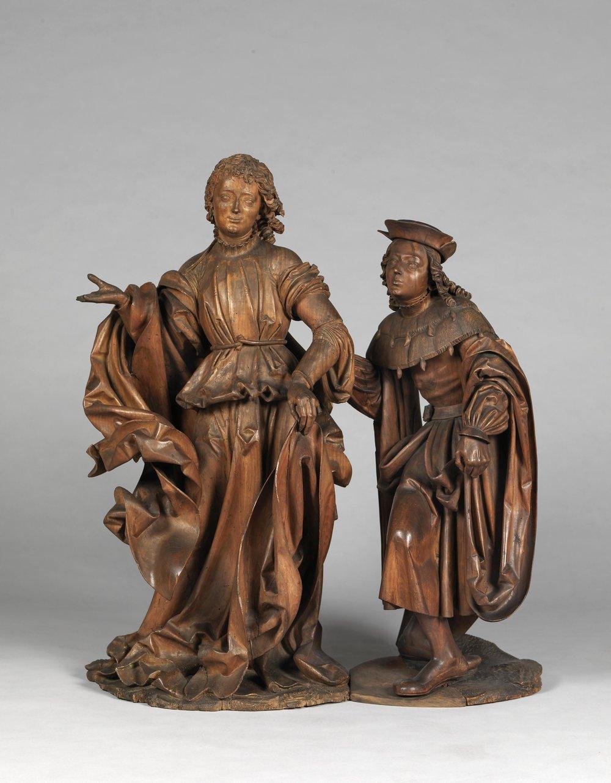 Veit Stoß: Raphael und Tobias, 1516. Foto: Germanisches Nationalmuseum
