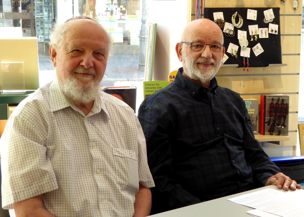 Israel Schwierz und Frank Stößel. Foto: Frank Stößel