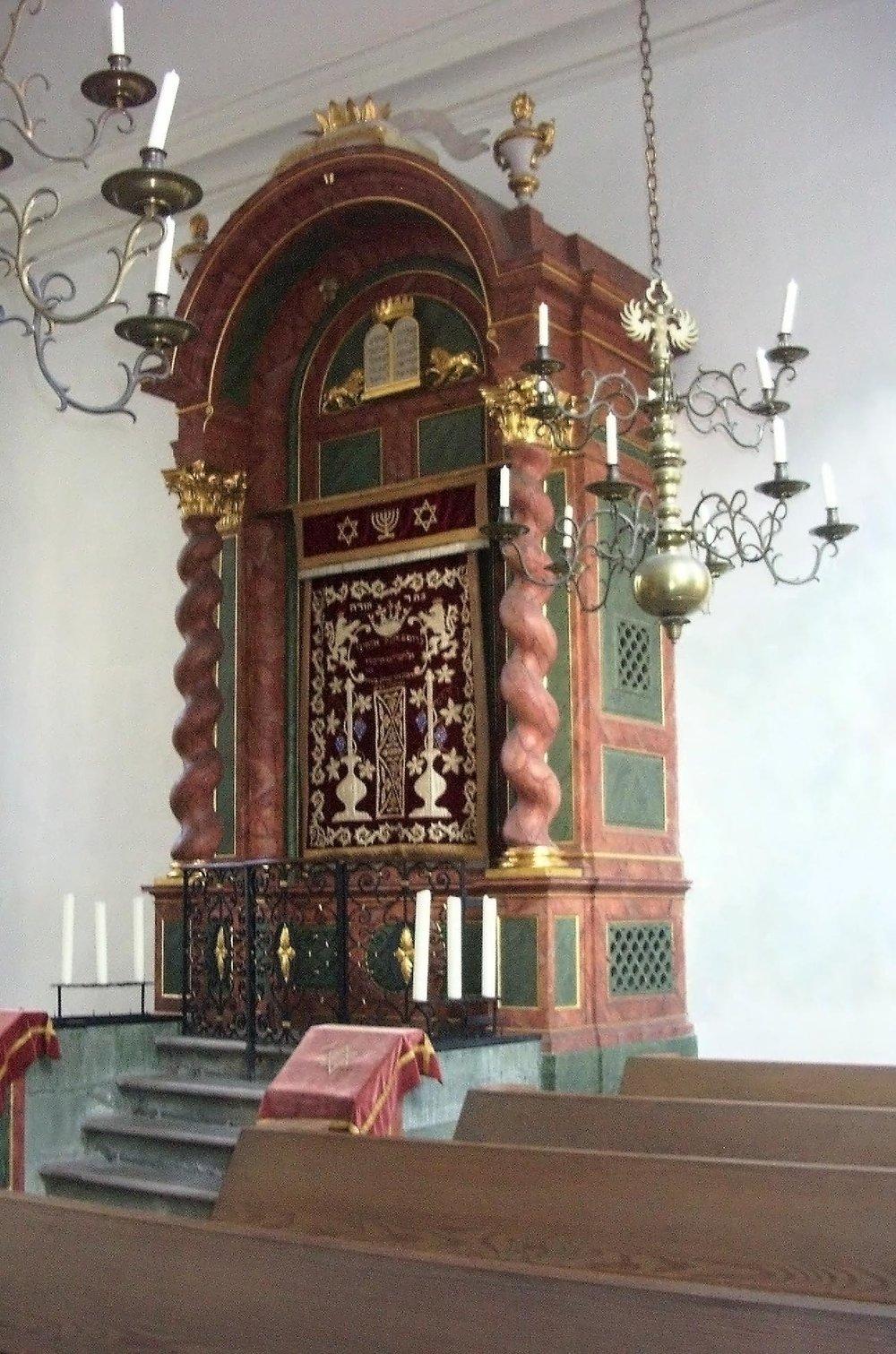 Thoraschrein in der Ansbacher Synagoge. Foto: privat