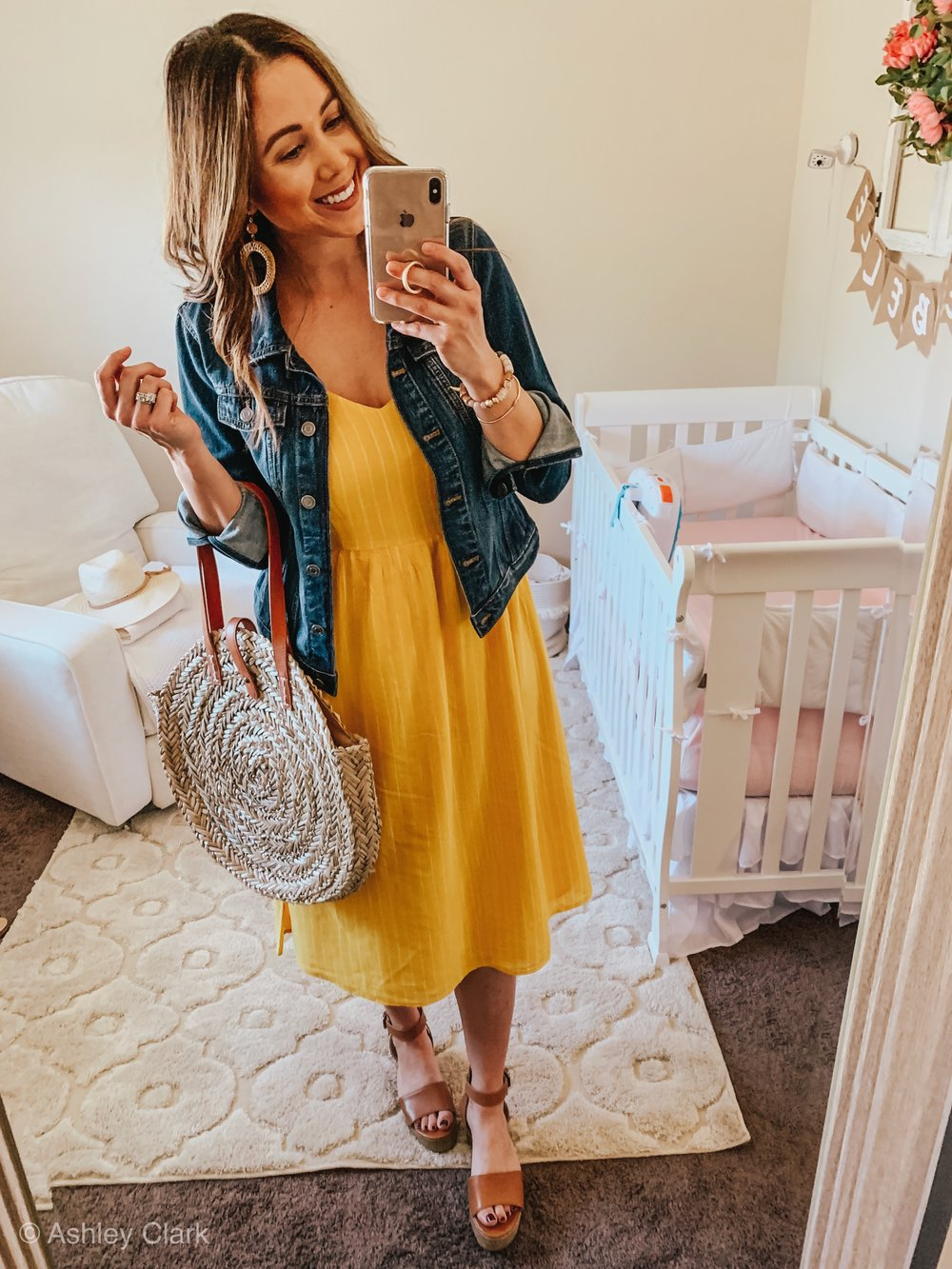 5 was to style a dress for spring: Ashley Clark Blog