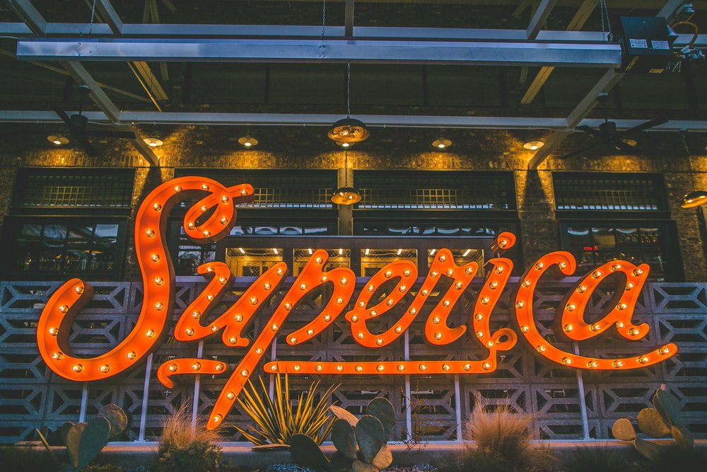 Superica-Atlanta-Orange-Sign-Erik-Meadows