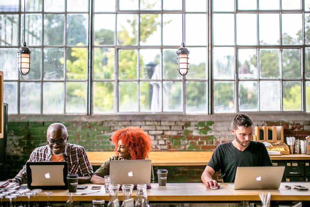 Laptops-at-Octane-Coffee-Shop-Erik-Meadows