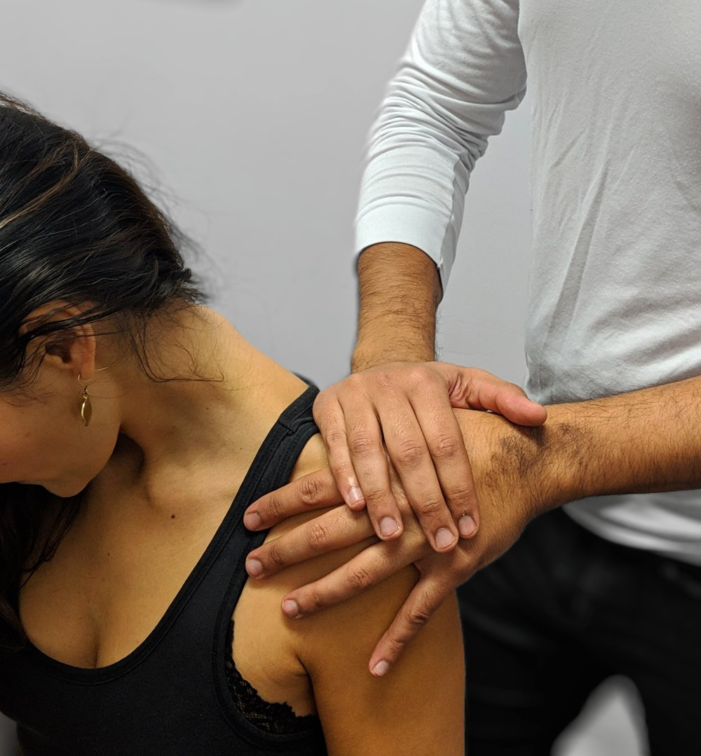 Manual Therapy - A comprehensive form of treatment, which I define modulation of the musculoskeletal (MSK) system through hands on care. Modulation can be at the level of the tissue, joint, or nervous system after an acute incident or a long standing chronic issue.In a nutshell, it helps to re-establish range of motion, increase function, and decrease pain by working on any of the three levels mentioned previously. Afterwards, evidence based rehab and strength training principles are prescribed to mitigate the potential for an issue to return.Some common names for manual therapy procedures I provide are Myofascial Release Therapy (MRT), trigger point release, PNF stretching, mobilizations, high velocity low amplitude (HVLA) manipulation (adjustments), functional rehabilitation, etc.This type of care can manage numerous conditions, including but not limited too