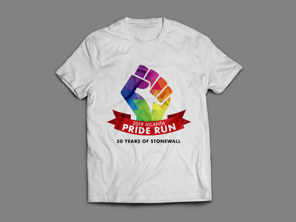 FREE PRIDE RUN T-SHIRT - ALL REGISTRATIONS INCLUDE AN EXCLUSIVE PRIDE RUN T-SHIRT ON RACE DAY.