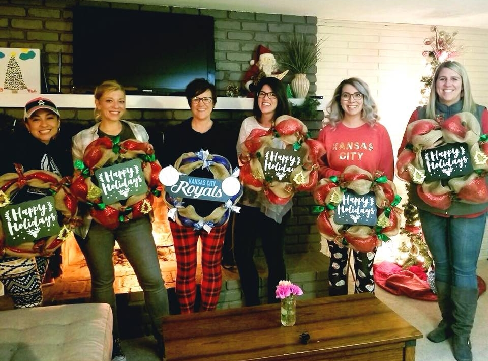 Holiday Wreath Party
