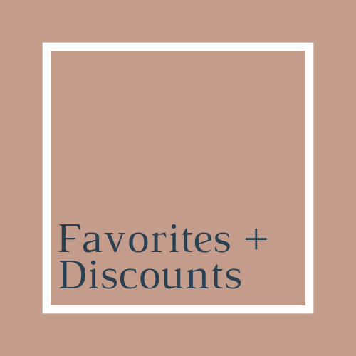 Favorites and discounts to save a little cash.