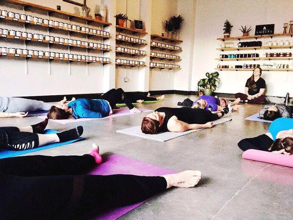 Yoga with Embers Candle