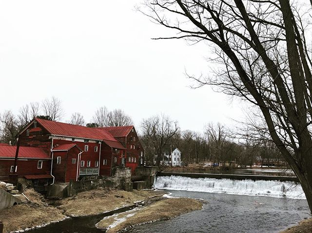 How lucky are we to have this historic grain mill as our neighbor? In the 1800s, there were 22,000 independent mills in the US—today there are only 196. The Red Mill is one of the 22,000 historic mills that are no longer operating—at least for now! #breathedeepfarm #regenerativeorganic #organicgrains