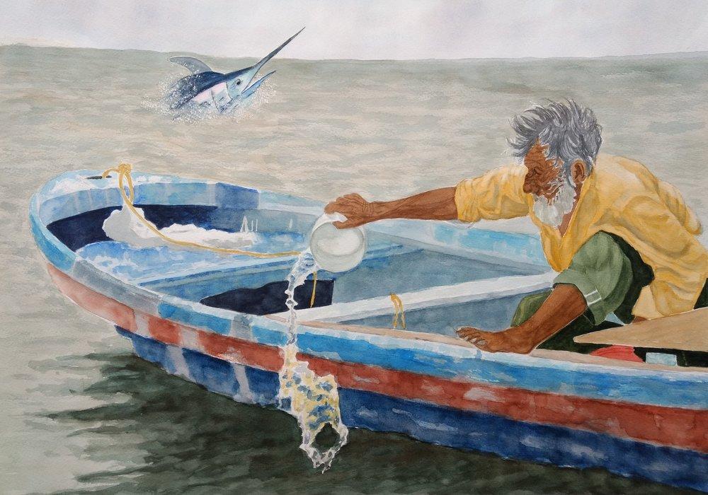 EL VIEJO Y EL MAR - El viejo y el mar, o el famosísimo relato corto de Enest Hemingway que le valió el Premio Nobel en 1953. Una narración sencilla, pero profundamente vívida y poética, propia de Hemingway que cuenta la historia del pescador Santiago y su lucha con un gigante marlín que es, a su vez, la metáfora de su vida.En esta reseña literaria del libro El viejo y el mar encontrarás el resumen del libro, personajes y análisis de este libro de esta clásica novela corta de Hemingway.