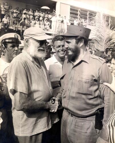 Ernest hemingway y Fidel Castro