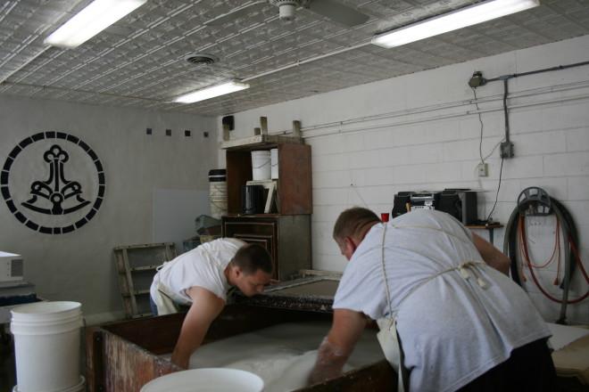 paper making at Twinrocker
