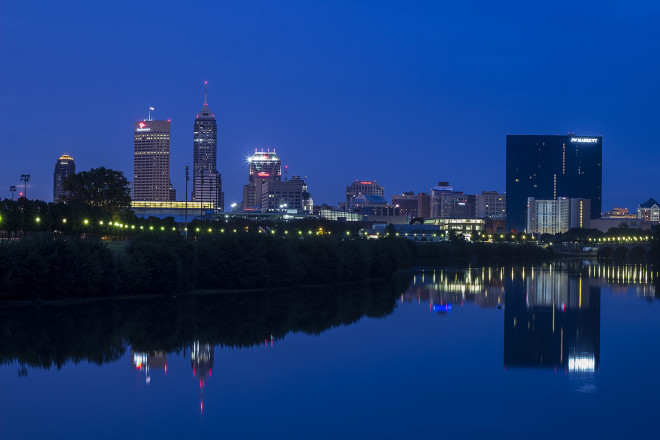 Indy Skyline from Across White River