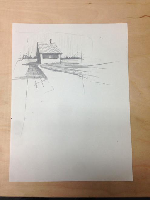 wall farm sketch