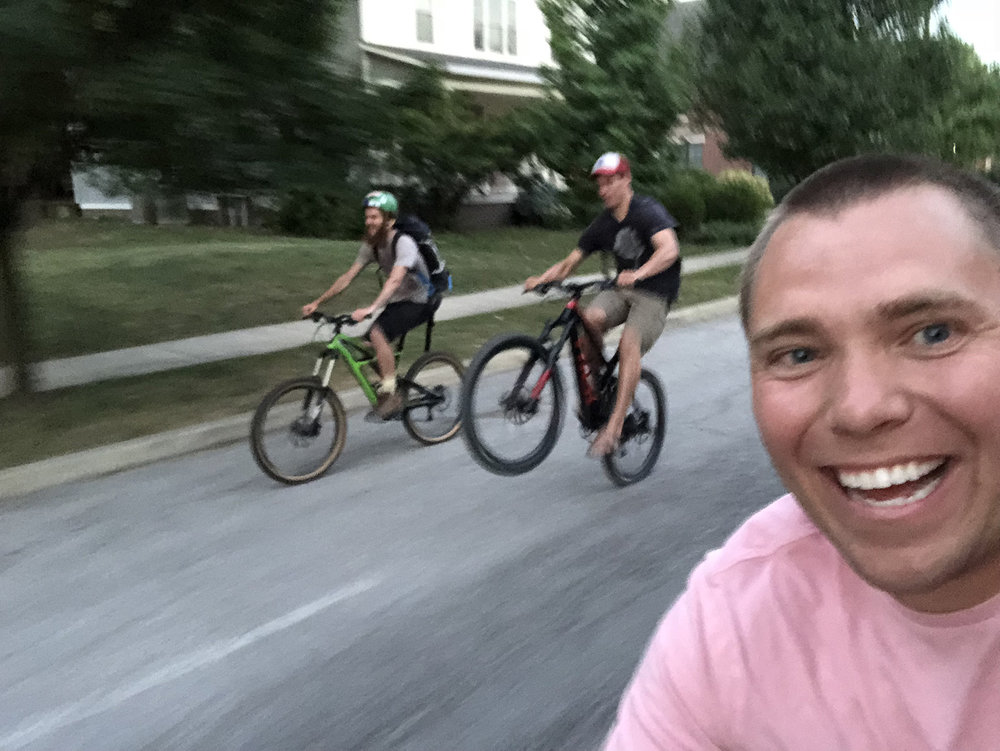 After the workshop, I gave Tad and his friend Owen a bike tour of our city.