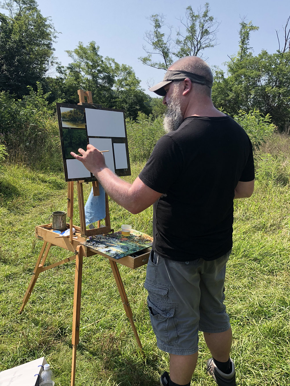 Earlier this summer, Shawn Krueger stopped through Indianapolis and painted with us for a couple of days.