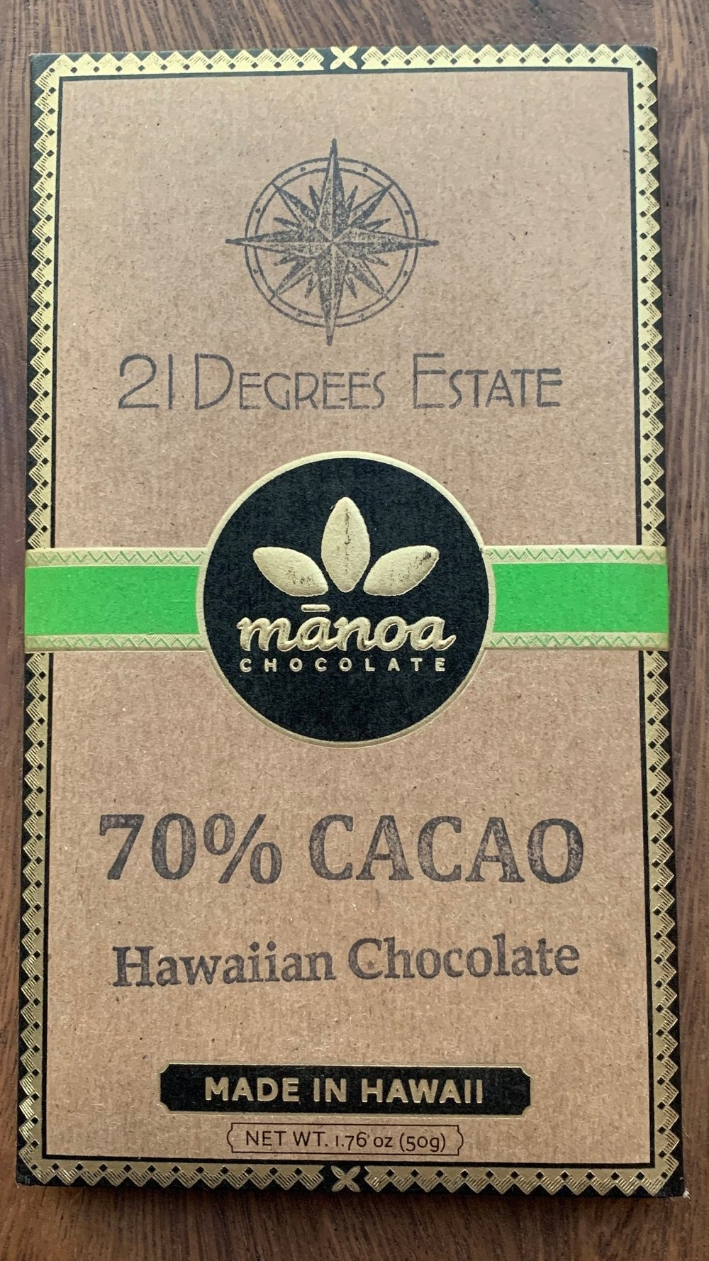 21º Estate / Manoa - Heavy Chocolate, mildly fruity.
