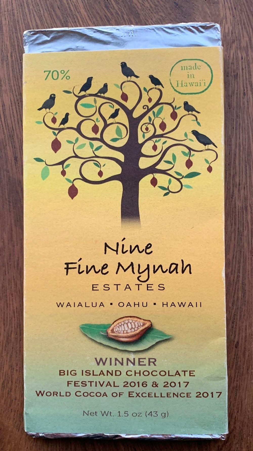 Nine Fine Mynah Estates - Heavy roast, coffee, nutty