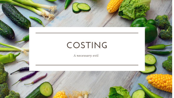 Costing templates. - Calculate your food cost percentage and margins to help you run a more cost effective menu and gain awareness of menu costs.