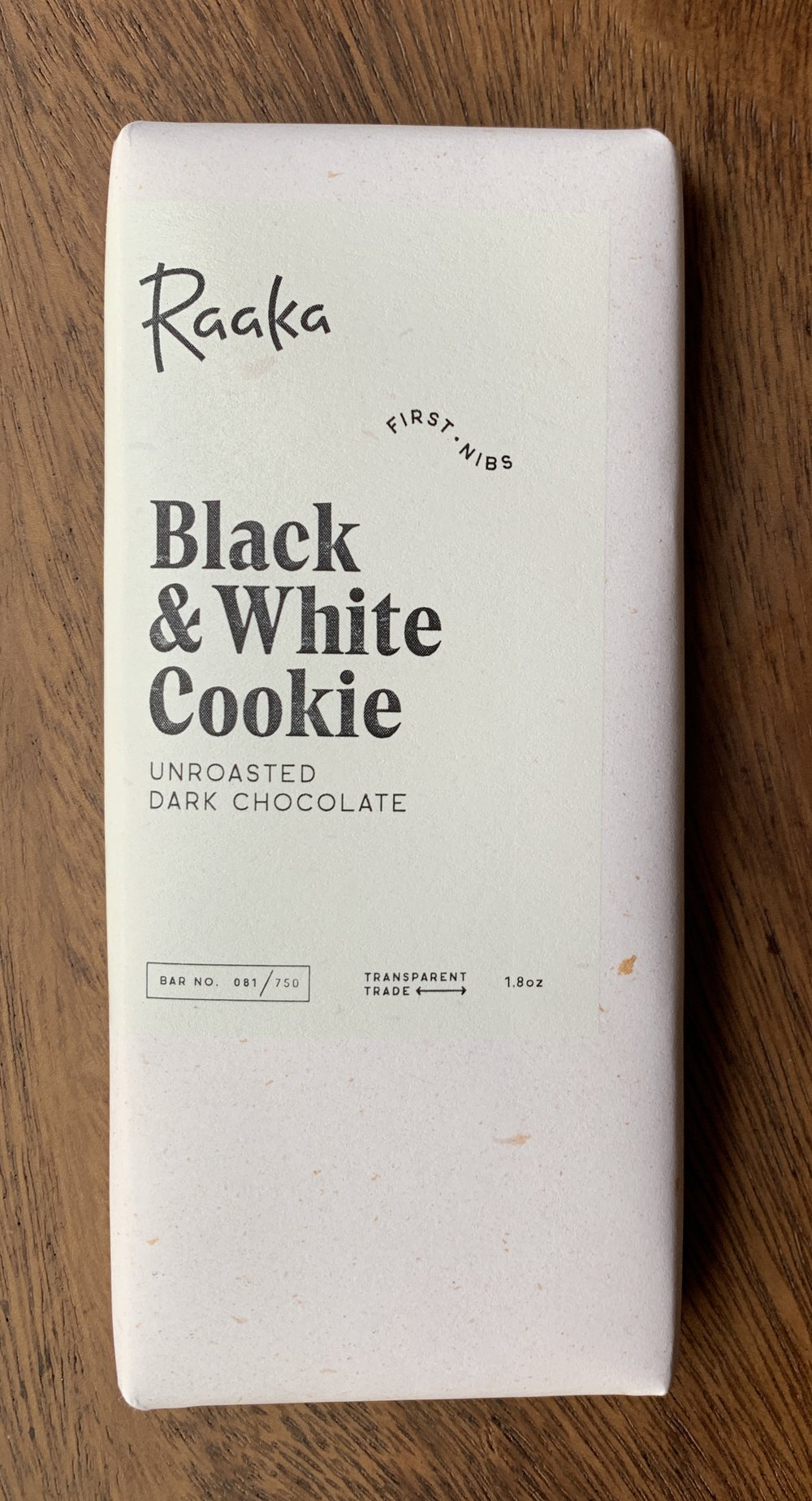 Raaka - Black-Black Cherry, fresh cacao , bright finish. White- Soft temper, coconut, strong cacao butter