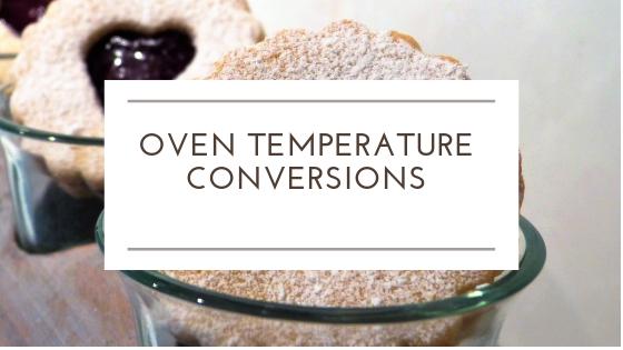 "Temperature Conversions - 8.5""X11"" Printable sheet for oven temp conversions"