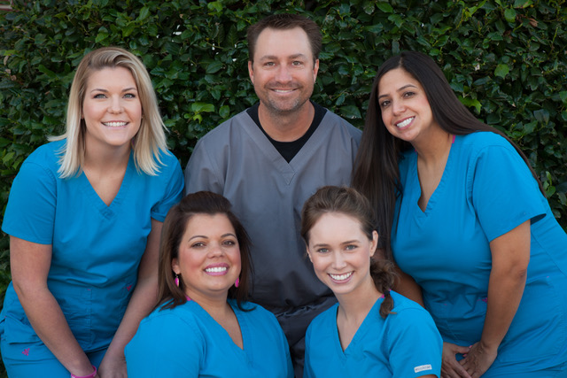 Dr. Perry and his team in North Richland Hills, TX
