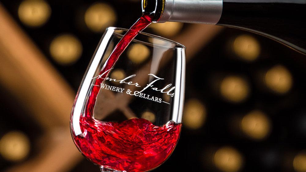 Amber Falls wine pour shot