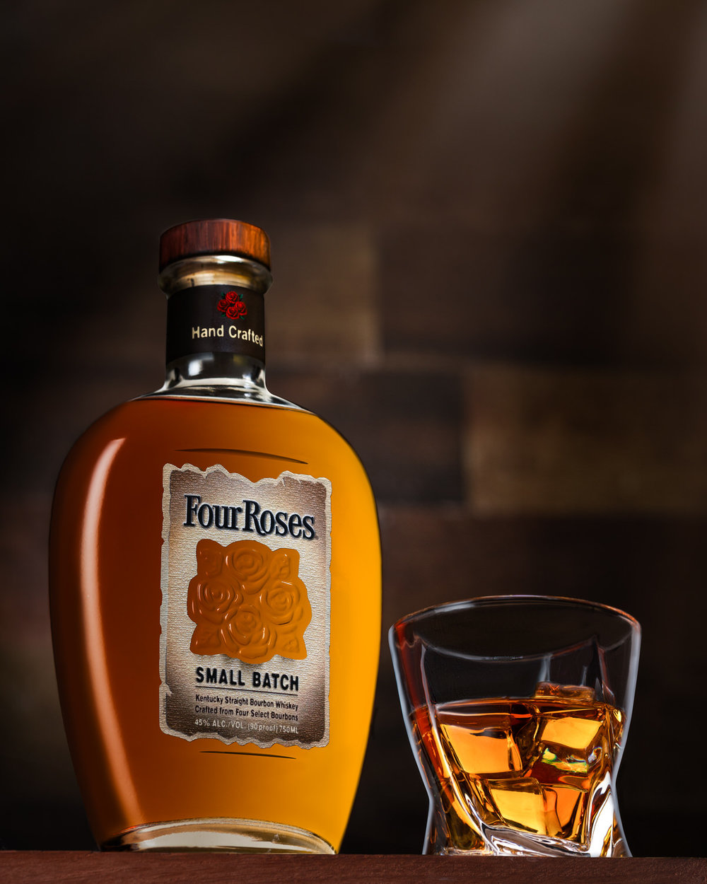 Nashville Product photography of Four Roses Bourbon