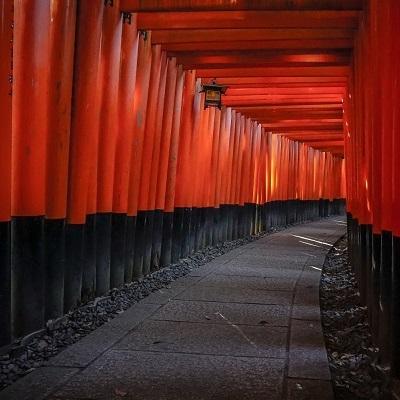 Fushimi Inari shrine tunnel in kyoto