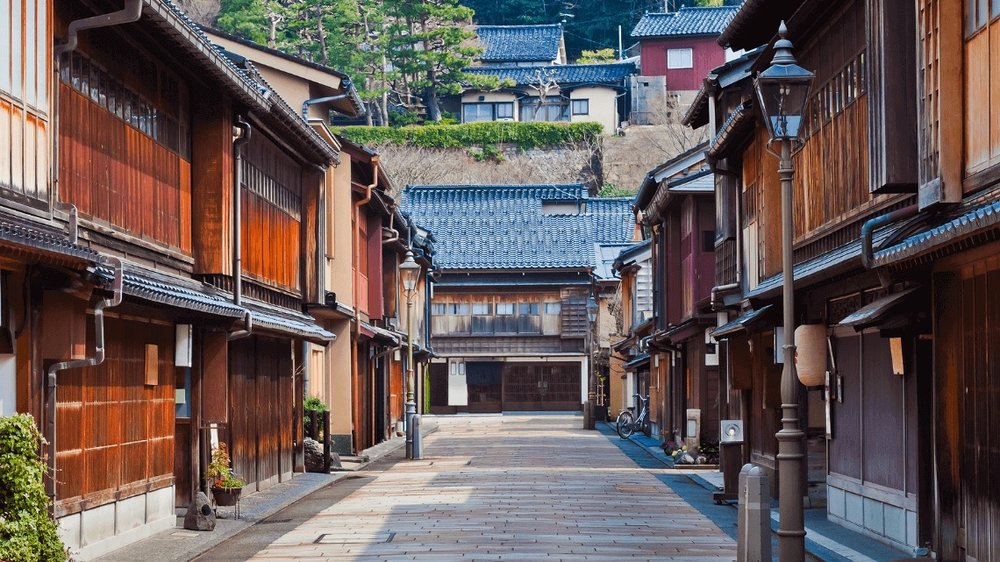 kanazawa street houses japan