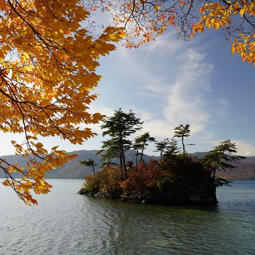 lake towada island aomori