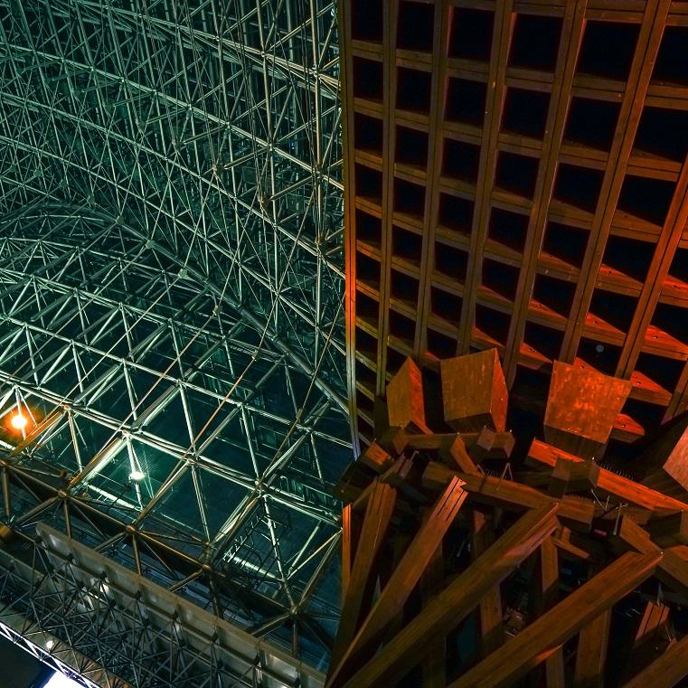 Japan kanazawa station wood metal