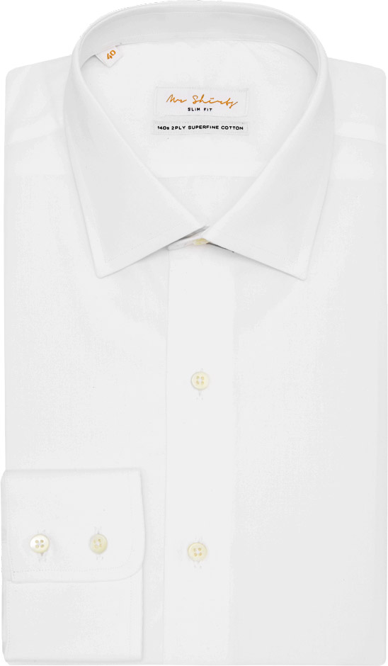 "The Only Boyfriend Shirt - 100% Superfine CottonLuxury 2ply 120s Thread CountMother-of-Pearl ButtonsSingle needle, 18-Stitches per inchAnd that's just to start...Removable Collar StaysVilene® Fused Collar & Cuff3 ½"" Mid-Spread CollarSingle Cuff (double-button)No rear pleats or dartsMachine wash or dry cleanIt's all rather Lavish & now it's yoursRRP $99"