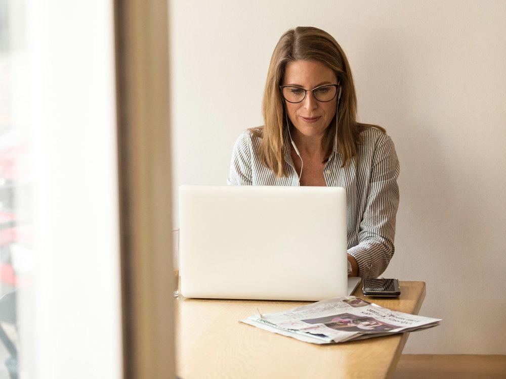 Australian woman doing his tax returns