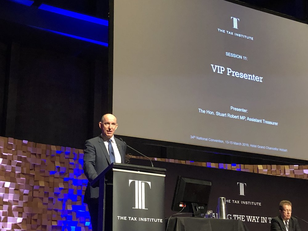 Assistant Treasurer The Hon Stuart Robert MP at The Tax Institute's National Convention in Hobart