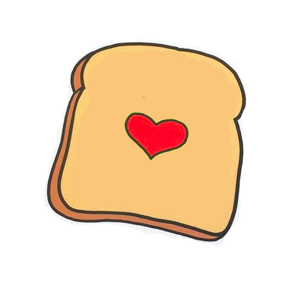 This piece of delicious, loving toast