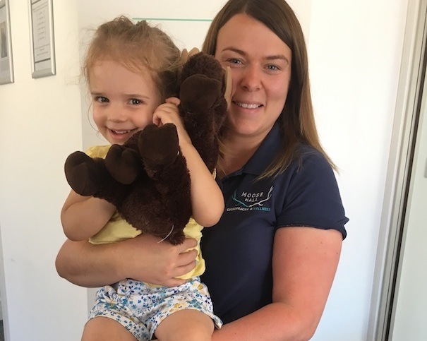 """'""""Neave loves going to see Dr Sam"""" - """"Neave loves going to see Dr Sam. It has helped her sleep and now she practices on mummy and daddy at home!For me, I also hadn't realised how much tension I carried in my upper back. Treatment has stopped my headaches and now I sleep much better.""""- NEAVE & MEL (NEAVES MUM!)"""