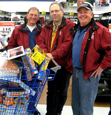 - Toys For Tots Christmas toy purchasing for needy kids with Frank and Basil, whom are also Fanshawe Optimists.