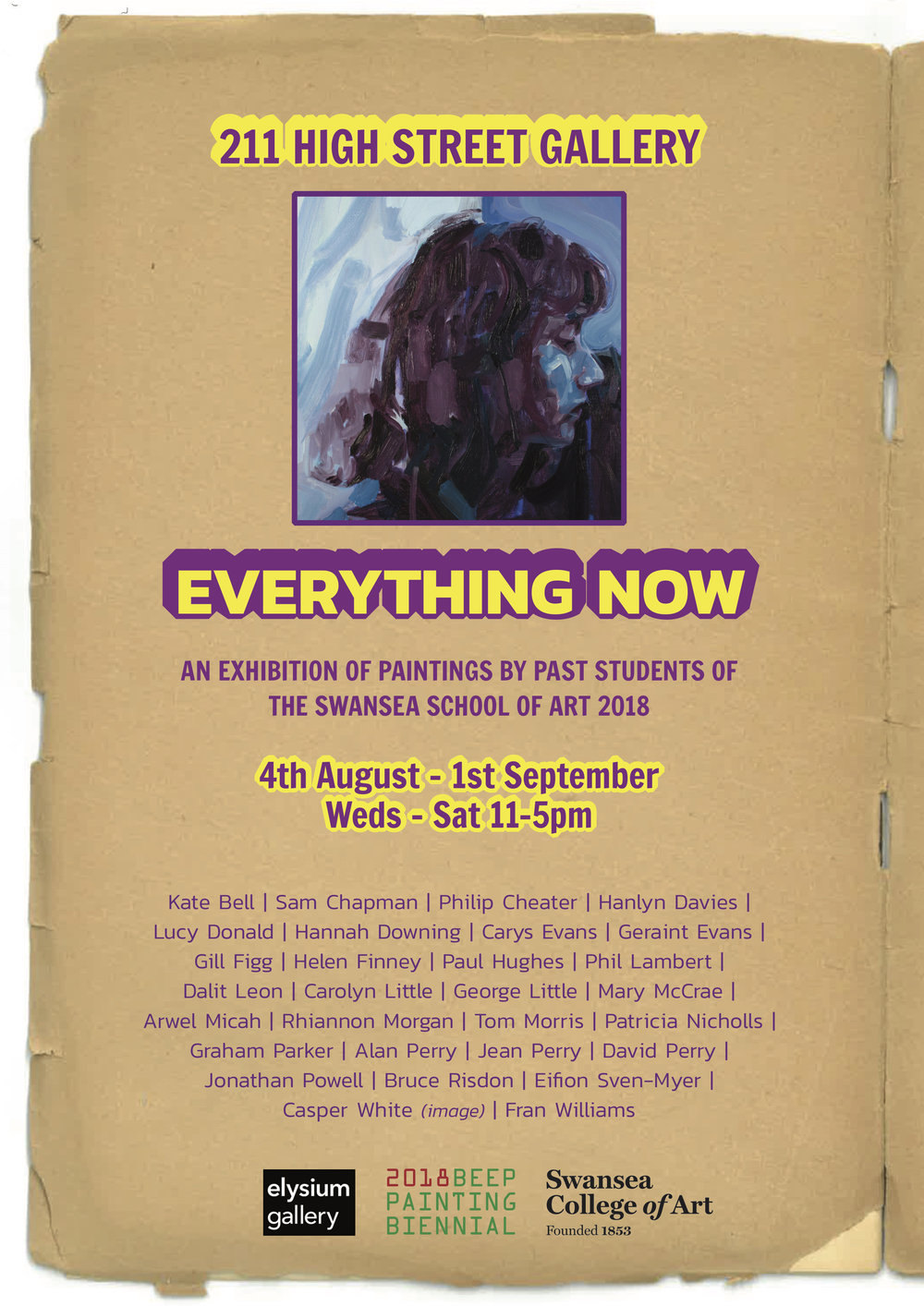 August 2018: Everything Now - http://www.elysiumgallery.com/events/event/everything-now/