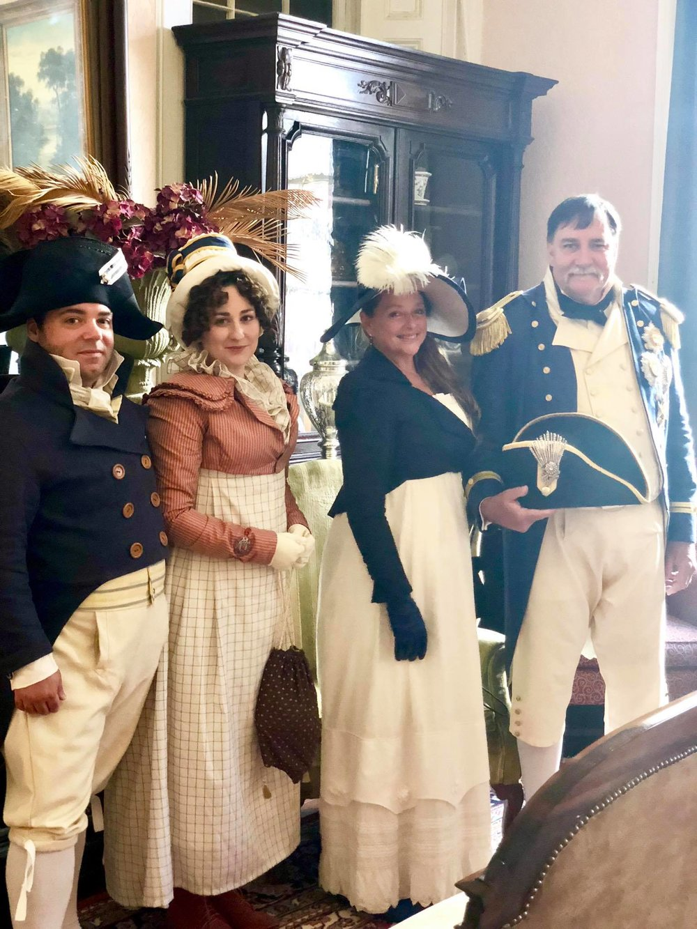 We are SO GLAD they joined us. - We had so much in common it was great conversation and we are looking forward to doing things together in the future…I will make a separate post about my Naval inspired outfit later.
