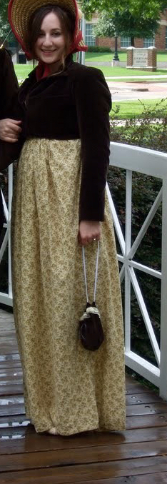First time I wore it 8 years ago....first regency dress ever made