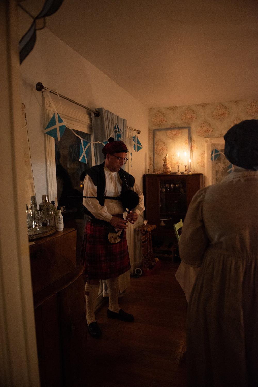 Burns Supper 2019 Scottish history Regency Era bagpipes
