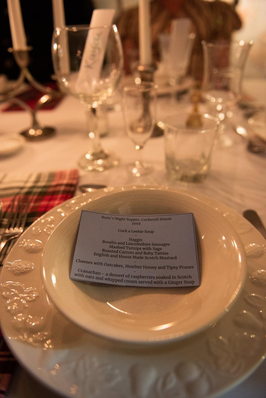 Burns Supper 2019 Scottish history Regency Era