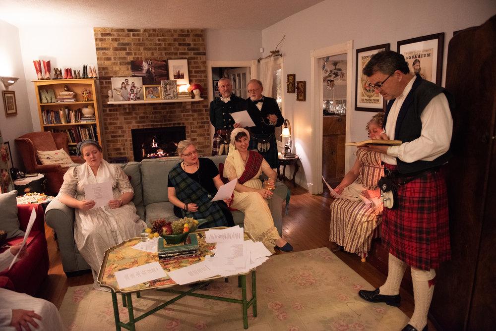 robert Burns night Supper 2019 Scottish scotland history Regency Era